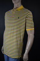 Ralph Lauren Classic Fit Yellow Navy Short Sleeve Stripe Mesh Polo Shirt/- NWT