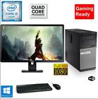 Gaming PC Desktop Computer DELL i5 8GB 128GB SSD+1TB R5-430 Win10 WIFI W/KB