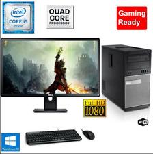 Gaming PC Desktop Computer i5 8GB 240GB SSD+1TB Win10 WIFI +Keyboard