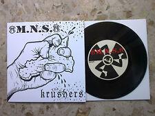 """M.N.S. / KRUSHERS - split 7"""" 2017 - ITA @punk handnumb. limited edition 475 MINT"""
