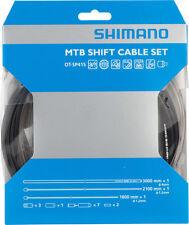 SHIMANO MTB PTFE MTB BIKE BLACK SHIFT DERAILLIEUR CABLE KIT W/ HOUSING