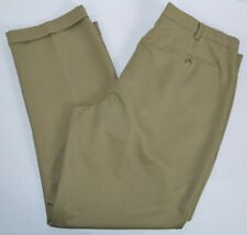 Van Heusen Traveler Mens Classic Pleated Dress Pants w/ Leg Cuffs, Khaki 40x32
