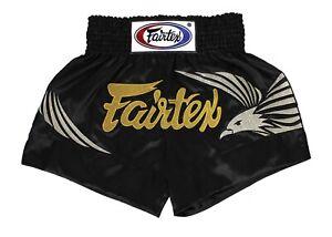 Fairtex Muay Thai MMA Boxing Shorts Blue Satin BS0657 Black Eagle King of Sky
