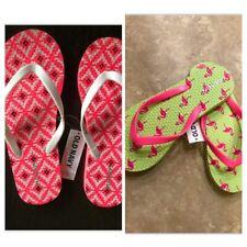 *NEW!* Old Navy 2 Pair Toddler Rubber Flip Flops Pink Aztec & Flamingoes  10/11