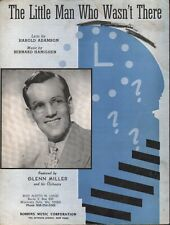 The Little Man Who Wasn't There 1939 Glenn Miller Sheet Music