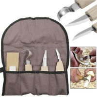 Wood Carving Detail Chisel Tools 5pcs Kit Steel Woodworking Cutter Hand Tool