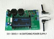 0.8 ~ 30V / 0 ~ 4A VARIABLE SWITCHING POWER SUPPLY MODULE EUROCARD 16X10X3,5CM