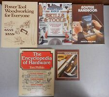 Step-by-Step Guide to Do-It-Yourself Techniques 5 book lot Woodworking tools