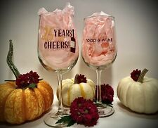 2020 Epcot Food & Wine Festival Wine Glass Set- 25 Years Of Cheers- Disney Parks