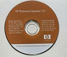 2006 HP Photosmart Essential 1.12 Software Driver Installation Software Mini CD