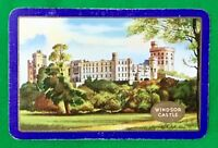 Playing Cards 1 Single Swap Card - Old Vintage ENN English Named WINDSOR CASTLE