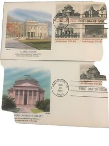 First Days Unaddressed Set 4 Cover One Combo American Architectural others N-6