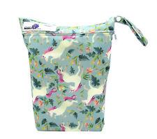 Unicorns Large Zip Dry & Wet Bag - Baby Cloth Nappies, Waterproof