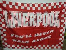 BANDIERA CALCIO LIVERPOOL ANNI '90 PREMIER LEAGUE YOU' LL NEVER WALK ALONE