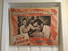 "Key largo bogart robinson bacall poster professional framed 1990 reprint 28""x22"""