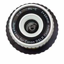 USD - Holga HL-C 60mm f/8 Toy Lens for Canon Digital DSLR Camera White