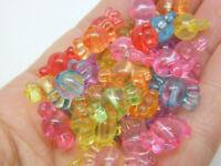 100 Sweet candy beads transparent random mixed acrylic AB790