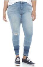 New Celebrity Pink Womans Destructed Skinny Jeans Sz 18 Dip Dyed Hem Stretch NWT