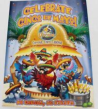 Corona Celebrate Cinco De Mayo No Corona No Fiesta Poster Birds Cantina Party