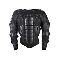 Adult Body CE Armoured Safety Jacket Motorcycle Motocross MX Enduro Black Road