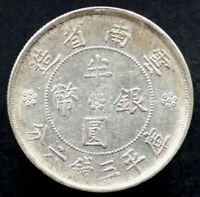 1/2 YUAN / 50 CENTS 1932 CHINE / CHINA YUNNAN (Argent / Silver)