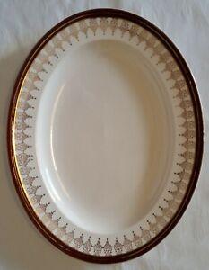 Alfred Meakin of England Platter    Burgundy & Gold Pattern