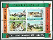 ZAMBIA SGMS217 INDEPENDENCE MNH