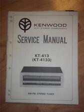 Kenwood Service Manual~KT-413/-4133 Tuner~Original Repair