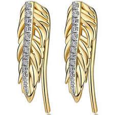 Orecchini di bigiotteria pendenti in oro in ottone