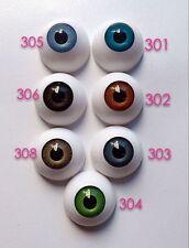 8 Pairs 26mm HALF ROUND ACRYLIC REBORN DOLL EYES for Reborn/BJD/OOAK Doll eyes