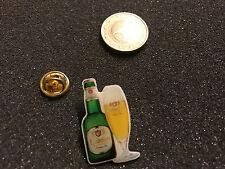 Bier Beer Pin Badge Einbecker Brauerei Flasche mit Glas