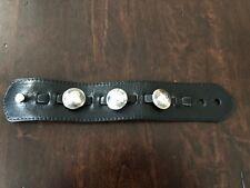 King Baby Studio Silver Pocket Change Bracelet Leather Cuff 3 Quarters $1060 SRP