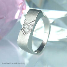 Anello in 750/- Oro Bianco con 3 diamanti circa 0,15 ct. Wesselton/VSI