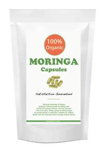 Moringa Capsules 750mg - HIGH STRENGTH Moringa Leaf Raw 100% Pure & Organic