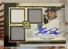 2020 Miguel Cabrera Topps Museum Collection Swatches Triple Relic Auto 3/5