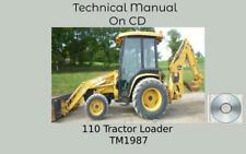 John Deere 110 Tractor Loader Backhoe Technical Manual Tm1987