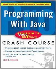 Programming with Java by John R. Hubbard (2001, Paperback) **E-LO-MEDIA
