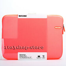 "Incase Neoprene Sleeve Slip Pouch Case for MacBook Pro 15"" (Electric Orange) NEW"