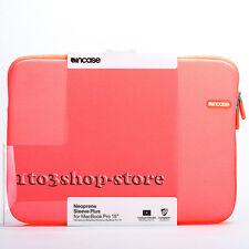 "Incase Neoprene Sleeve Slip Pouch Case for MacBook Pro 15"" (Electric Orange) NEW"