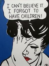Pop Art Original Oil Painting by Terry P Wylde : Family Regrets