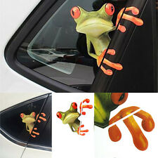 Car Window Rear Windshield Decorative 3D Peep Frog Funny Decal Graphics Sticker