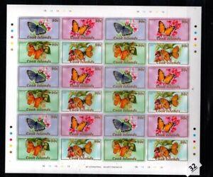 / COOK ISLANDS - MNH - IMPERF - BUTTERFLIES