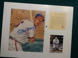 STAN MUSIAL ST LOUIS CARDINALS SIGNED Autographed 1993 Kelly Russell Litho Print