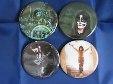 KISS Rock Band Gene ACE Peter Paul Four 1.25 Inch PINS BUTTONS BADGES NEW