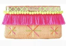 "Lilly Pulitzer Baja Clutch NWT ""Natural"" ***Retail $118***"