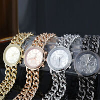 Einfache Stil Damenuhr Cowboy Kette Edelstahl Ehering Quarz Armbanduhr