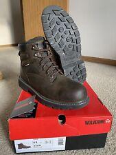 Men's Wolverine Floorhand Dark Brown Waterproof Steel Toe Boots Sz 11M (W10633)