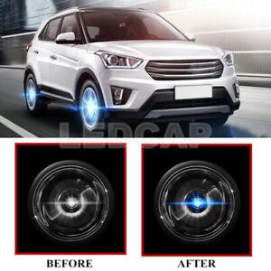 4X Floating LED Illuminated Hub Light Car Wheel Caps Light Fit For Hyundai 59mm
