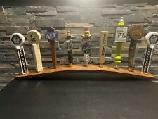 Handmade Oak Wine Barrel Stave 9 Beer Tap Display