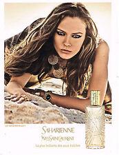 PUBLICITE ADVERTISING 035  2011  YVES SAINT LAURENT  Parfum femme SAHARIENNE